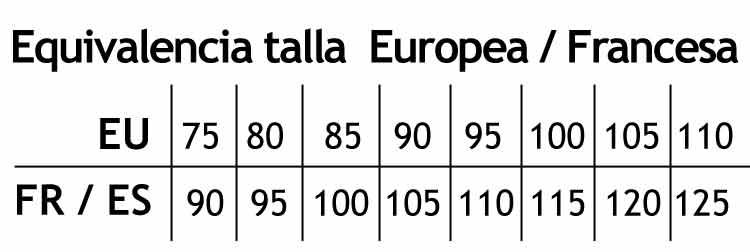 equivalencia talla europea a francesa
