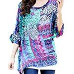 blusa estampada abstracto